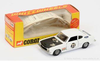 """Corgi 303 Ford Capri """"Roger Clark's"""" - white"""