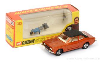 "Corgi 313 Ford Cortina GXL ""Graham Hill"" - metallic bronze"