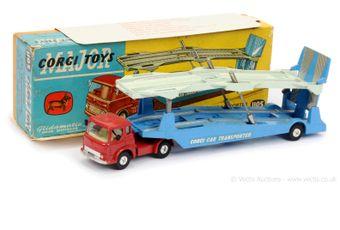 Corgi 1105 Bedford TK Carrimore Car Transporter - red cab