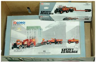Corgi a boxed Heavy Haulage pair to include Scammell Highway