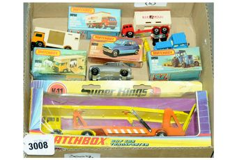 Matchbox a boxed group to include 1 x K-11 Super Kings DAF Car