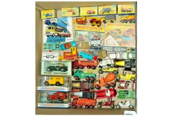Matchbox a partially boxed group to include 15 Dennis Refuse