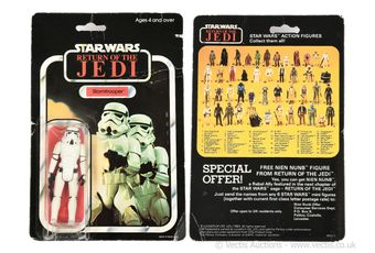 "Palitoy Star Wars Return of the Jedi vintage Stormtrooper 3 3/4"""