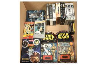 Quantity of Star Wars VHS Video's, DVD's, Blu-Rays