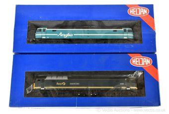 Heljan OO Gauge Co-Co Diesel Locos comprising 4662 Anglia Railways