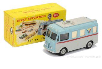 "Dinky 988 ""ABC TV"" Transmitter Van - two-tone blue"
