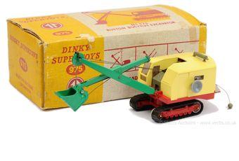 Dinky 975 Ruston Bucyrus Excavator - red, green