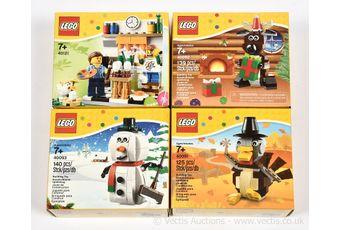 Lego sets x four, sets number 40091, 40092