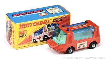 Matchbox Superfast 46b Stretcha Fetcha Ambulance German Market