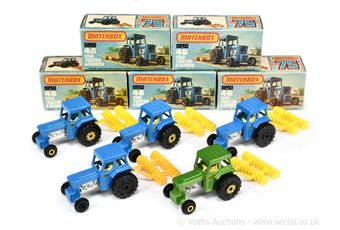 Matchbox Superfast 5 x 46c Ford Tractor & Disc Harrow