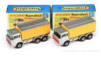Matchbox Superfast 2 x 47a DAF Tipper Container Truck