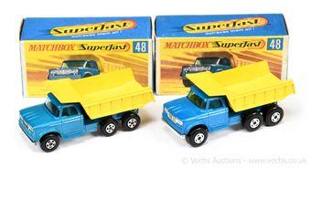 Matchbox Superfast 2 x 48a Dodge Dump Truck