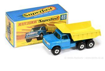 Matchbox Superfast 48a Dodge Dump Truck - darker blue cab
