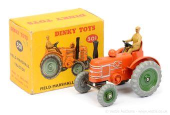 Dinky 301 Field Marshall Tractor - orange