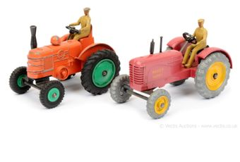 Dinky 27a/300 Massey Harris Tractor - red