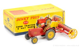 Dinky 310 Farm Tractor and Hay Rake Set to include 27a/300 Massey