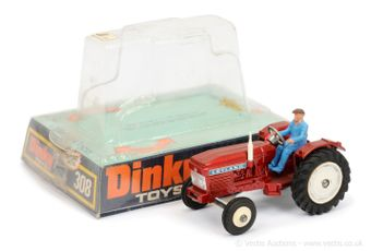 Dinky 308 Leyland 384 Tractor - metallic red, white hubs