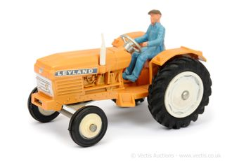 Dinky 308 Leyland 384 Tractor - orange body, white hubs