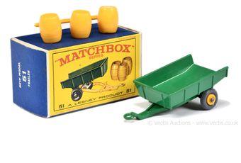 Matchbox Regular Wheels 51b Farm Tipping Trailer