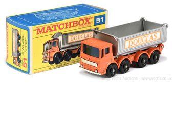 """Matchbox Regular Wheels 51c AEC Tipper Truck """"Douglas"""""""