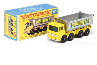 """Matchbox Regular Wheels 51c AEC Tipper Truck """"Pointer"""""""
