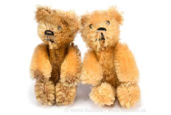 Schuco Talisman pair of vintage teddy bears, German