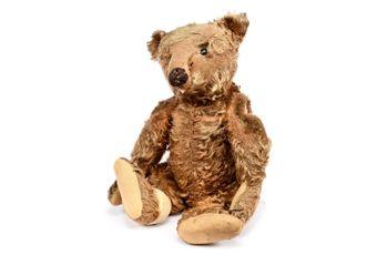 "Steiff vintage Teddy Bear German circa 1908,"" Ileenes Ted"""
