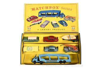 Matchbox Regular Wheels G-2 Car Transporter gift set containing