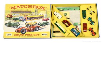 Matchbox Regular Wheels G-4 Grand Prix gift set containing