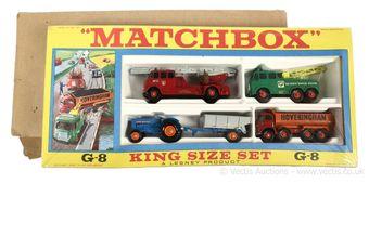 Matchbox King Size G-8 gift set containing
