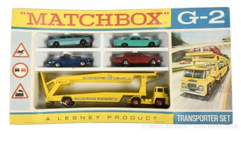 Matchbox Regular Wheels G-2 Car Transporter gift set