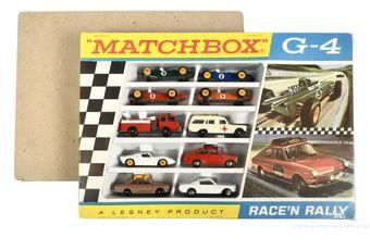 Matchbox Regular Wheels G-4 Race'n Rally gift set containing