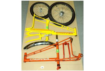 Raleigh Chopper related accessories and parts group comprising